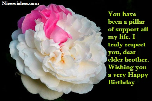 Awesome Flower Birthday Wishes For Elder Brother Nice Wishes