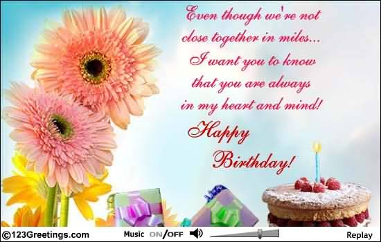 Birthday Quotes For A Friend Miles Away : Birthday wishes for far away friends page nicewishes