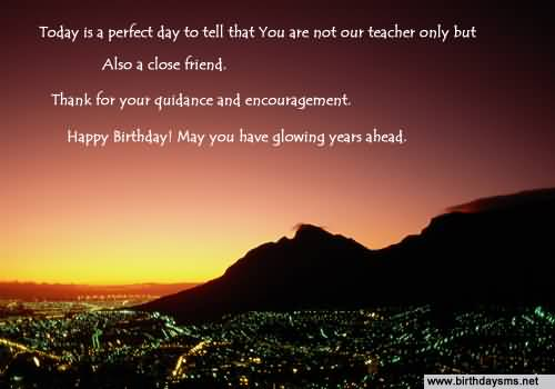 Birthday Wishes For Teacher Quotes ~ Awesome greetings birthday wishes for dear teacher nicewishes