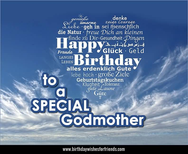 Birthday Wishes For Godmother, Greetings, Messages, Cards