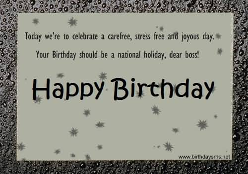Awesome Message Birthday Wishes For Boss E Card