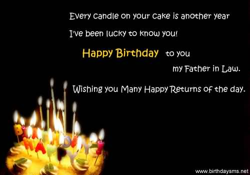 awesome message birthday wishes for father in law