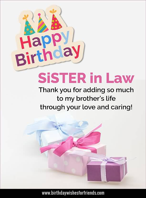 Awesome Message Birthday Wishes For Sister In Law Greetings – Birthday Greetings for Sister Message