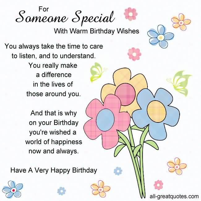 Awesome Quotes Birthday Message For Someone Special : Nicewishes.com