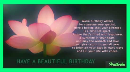 Beautiful Birthday Message For Someone Special