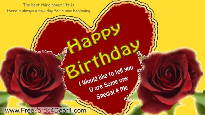 Beautiful Flower Birthday Message For Someone Special ...