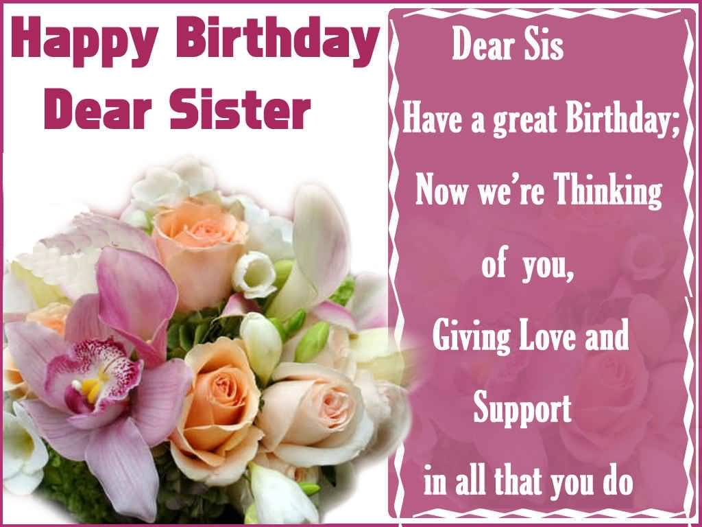 Beautiful flower birthday wishes for dear sister nicewishes beautiful flower birthday wishes for dear sister greetings izmirmasajfo