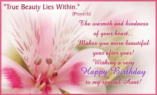 Beautiful Line E-Card Birthday Wishes For Aunt