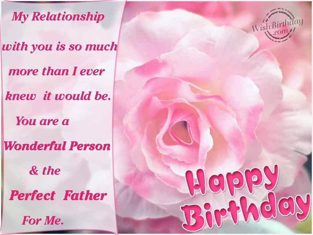 Beautiful Pink Roses Birthday Wishes For Father In Law E-Card