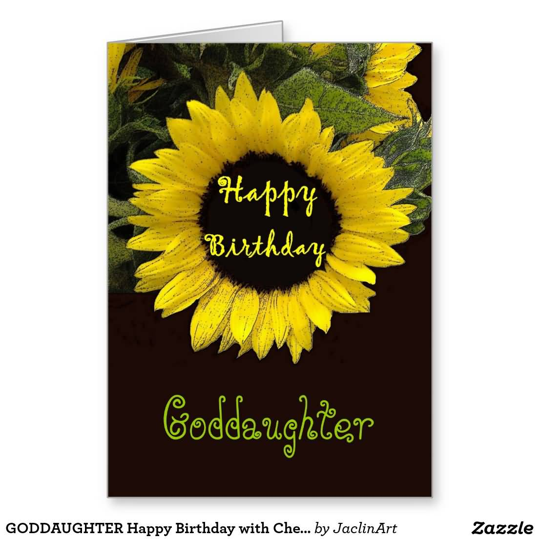 Beautiful Sun Flower Birthday Wishes For Goddaughter Greetings
