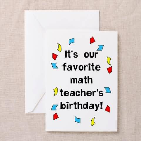 Best Birthday Wishes For Math Teacher Greetings Nicewishes