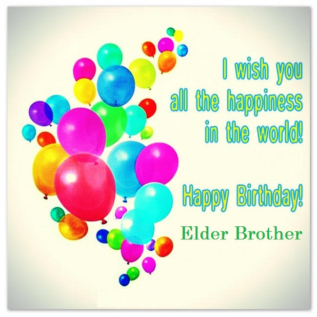 Best E-Card Birthday Wishes For Elder Brother