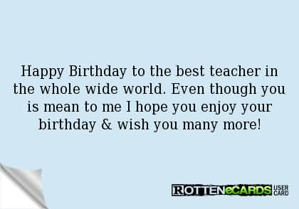 Birthday wishes for teacher ecards images page 36 best e card birthday wishes for teacher m4hsunfo