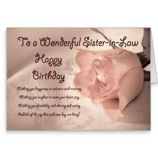Best Flower Birthday Wishes For Sister In Law E Card