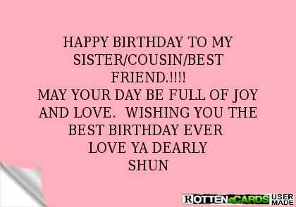 Cousin Birthday Wishes Happy Birthday Quotes Messages Ecards