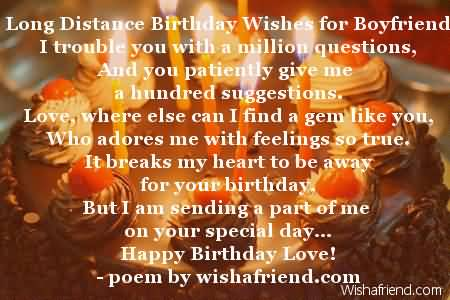 Best Poem E-Card Birthday Wishes For Far Away