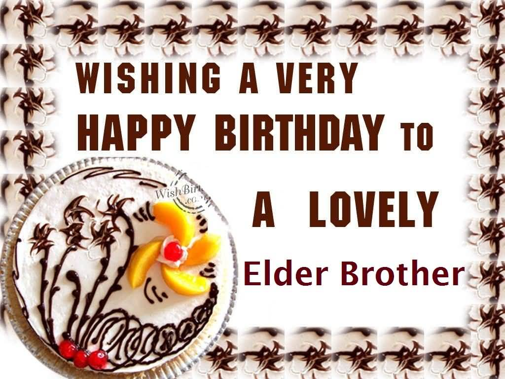 Delicious Cake Birthday For Elder Brother E-Card