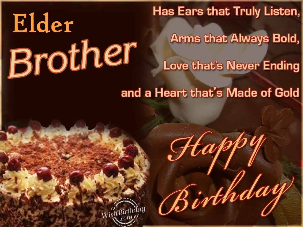 Delicious Cake Birthday Wishes For Elder Brother