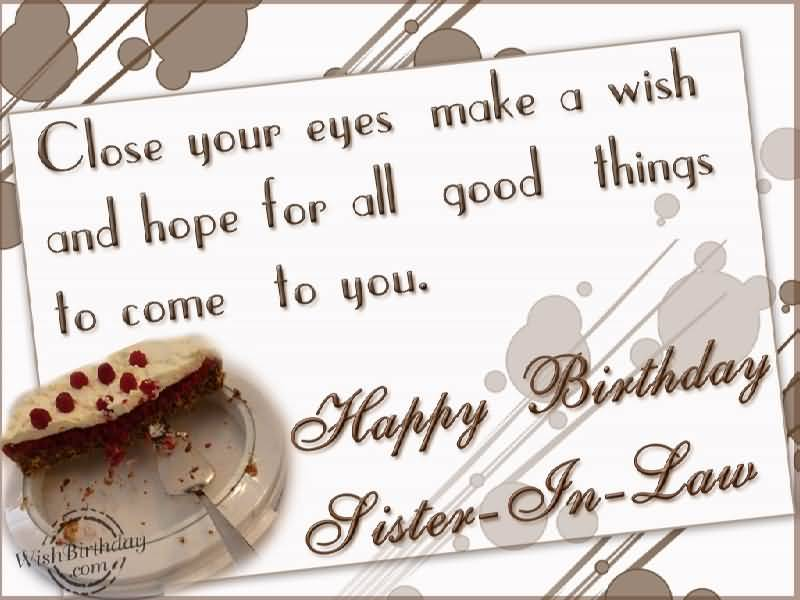 Delicious Cake Birthday Wishes For Sister In Law Greetings Quotes