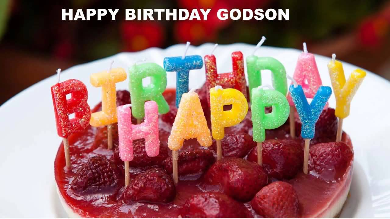 Delicious Strawberry Birthday Wishes For Godson E-Card