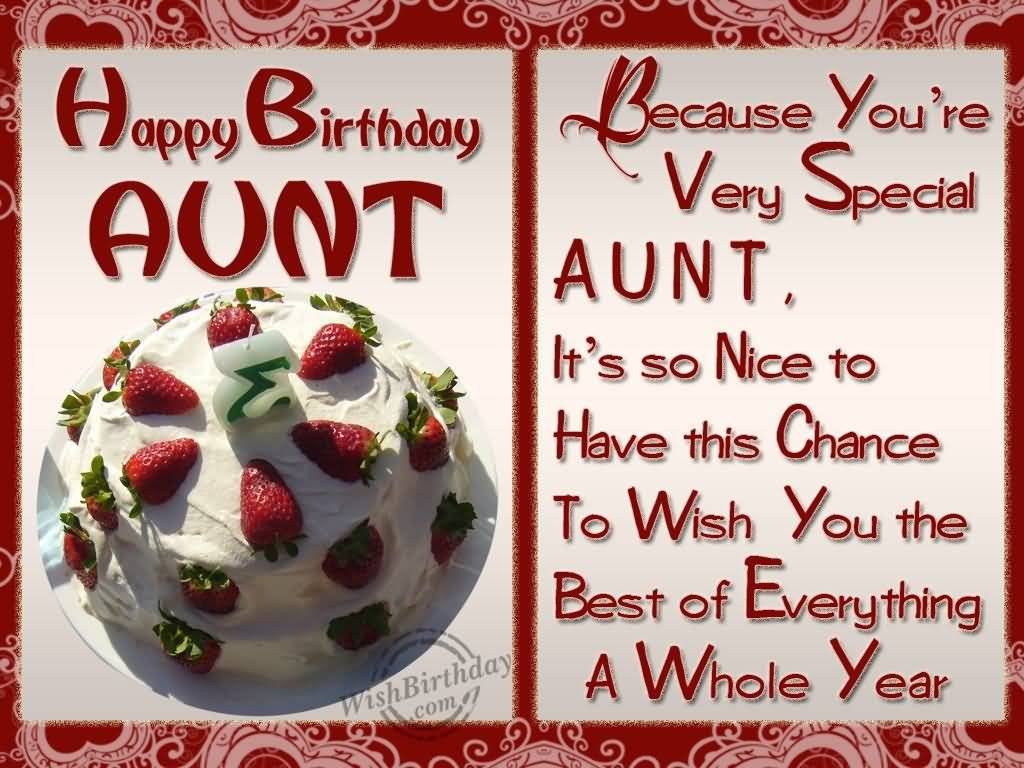 Especially Birthday Wishes For Dear Aunt