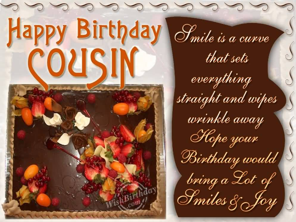 Sweet Cake With Qoutes Birthday Wishes For Cousin Nicewishes