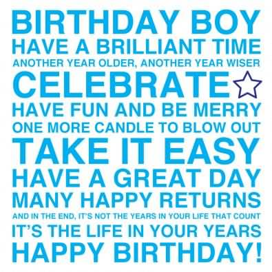 Birthday wishes for boys happy birthday quotes messages ecards fabulous e card birthday wishes for brilliant boy m4hsunfo