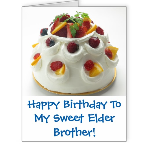 Fabulous E-Card Birthday Wishes My Sweet Elder Brother