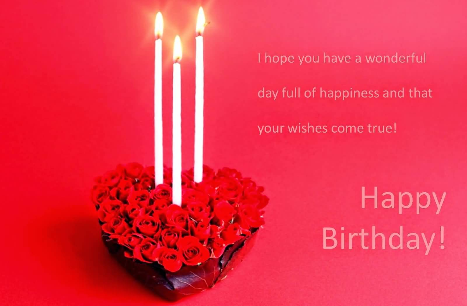Gorgeous Candle E-Card Birthday Wishes For Fiance