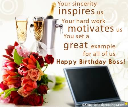 Great E-Card Birthday Wishes For Boss