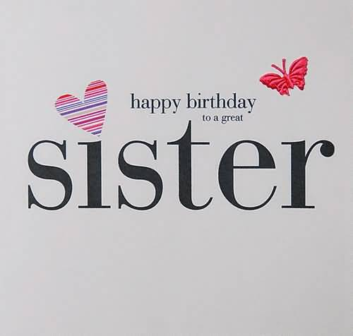 Great E-Card Birthday Wishes For Sister