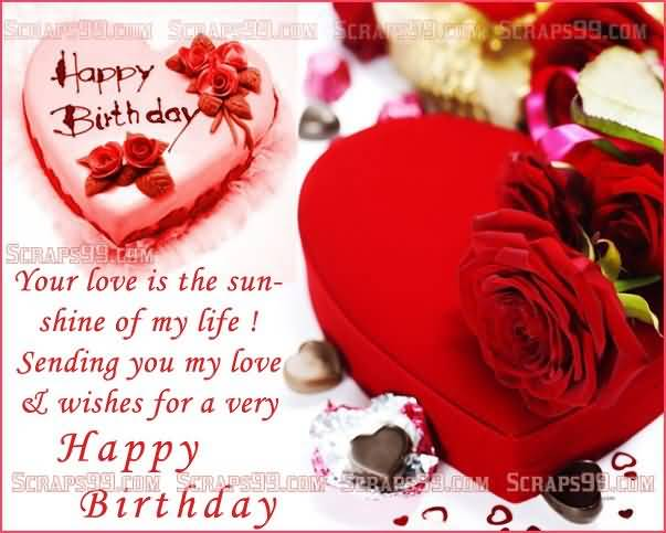 Great Heart E Card Birthday Wishes For Lover
