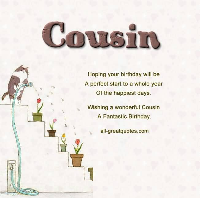 Great Quotes Birthday Wishes For Cousin E Card