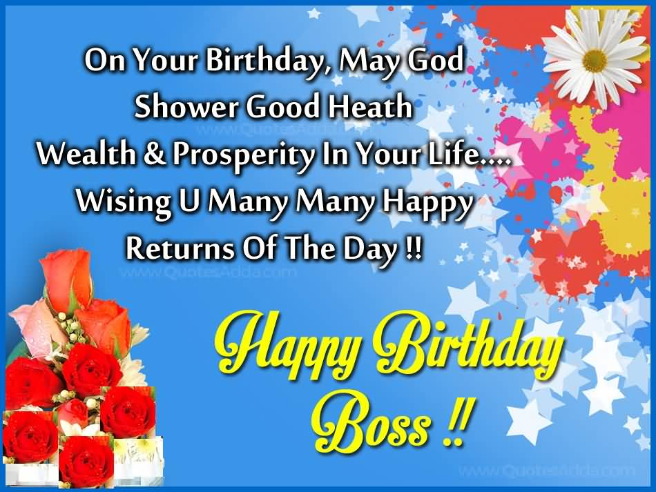Birthday Wishes Sayings For Boss ~ Birthday wishes for boss page nicewishes