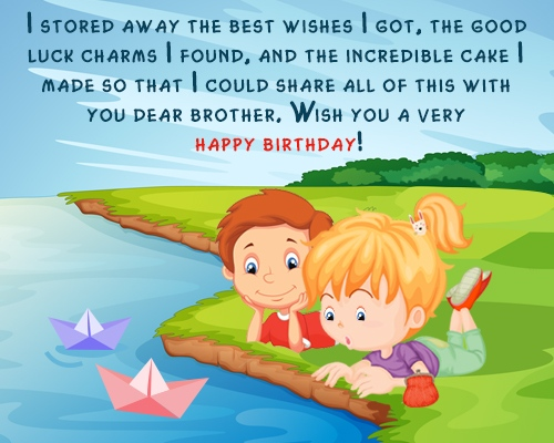 Lovely Birthday Message For Elder Brother
