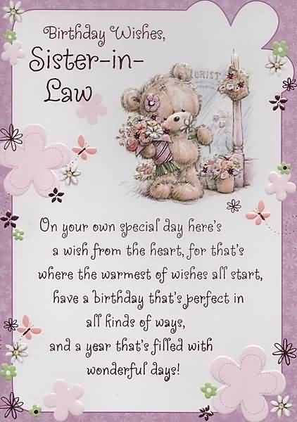 Birthday wishes for sister in law images pictures page 9