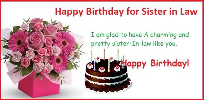 Lovely Quotes Birthday Wishes For Sister In Law E Card