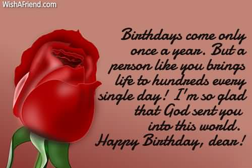 Lovely Red Rose Birthday Wishes For Boyfriend E Card