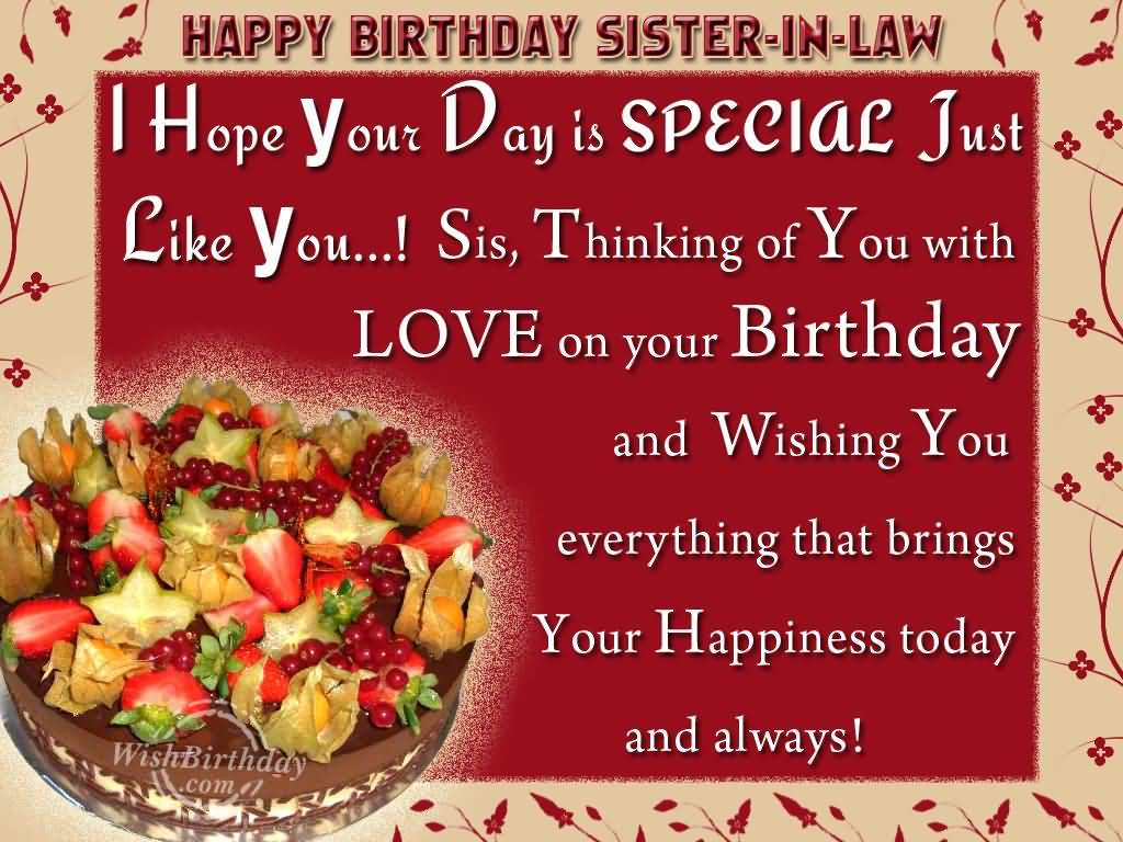 Mind Blowing Cake Birthday Wishes For Sister In Law Greetings ...
