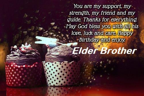 Nice Birthday Wishes For Elder Brother