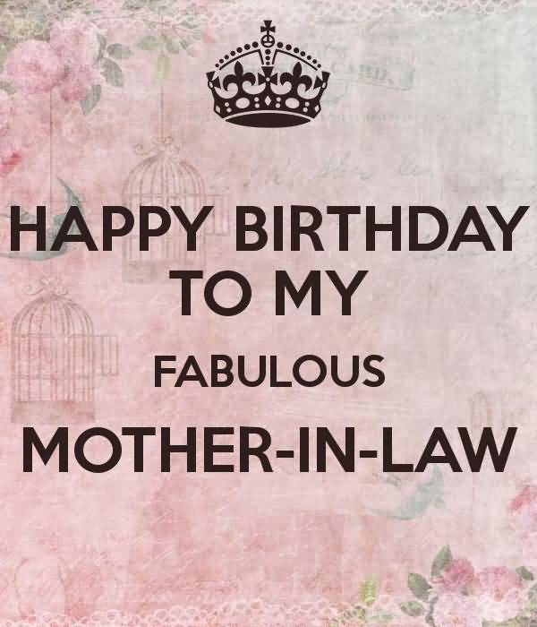 Nice E Card Happy Birthday To My Fabulous Mother In Law Nicewishes