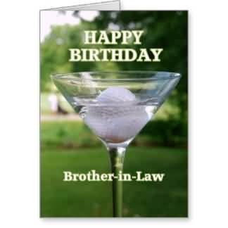 Nice Golf Ball E-Card Birthday Wishes For Brother In Law