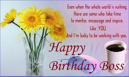 Nice Greetings Birthday Wishes For Sweet Boss