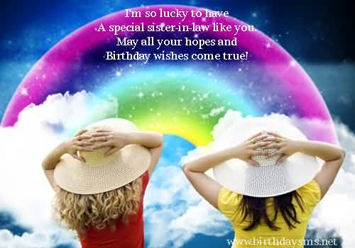 Nice Message Birthday Wishes For Sister In Law Greetings – Birthday Greetings for Sister Message