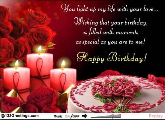 Romantic Greetings Birthday Wishes For Cute Lover NiceWishes – Greetings for the Birthday
