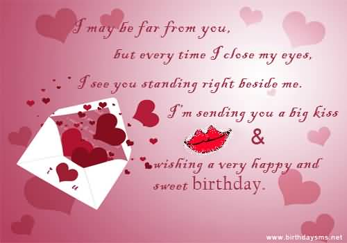 Romantic Message E-Card Birthday Wishes For Far Away