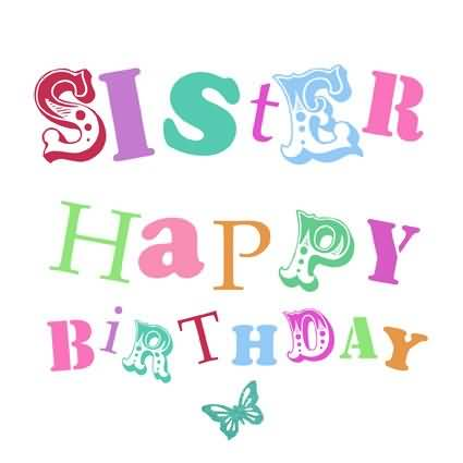 Simple E-Card Birthday Wishes For Sister
