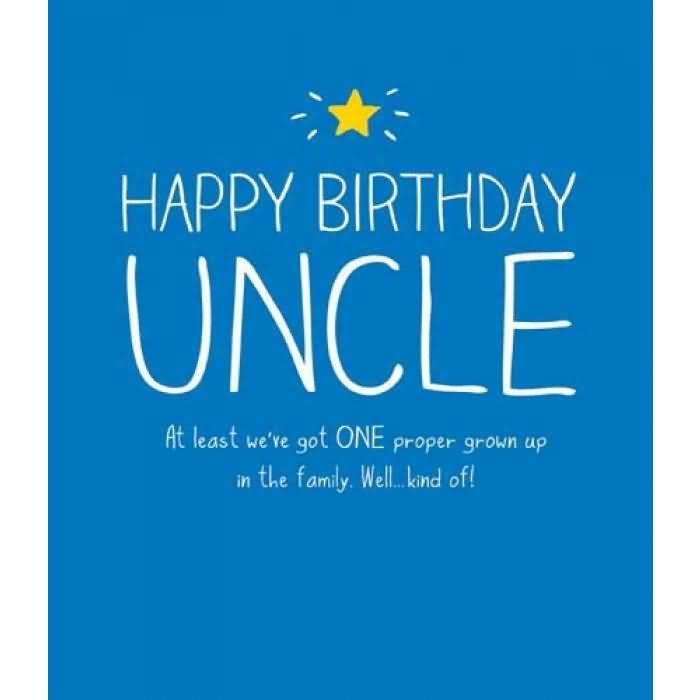 Simple E Card Birthday Wishes For Uncle