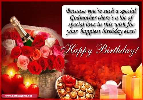 Happy Birthday Godmother Card: Birthday Wishes For Godmother, Greetings, Messages, Cards