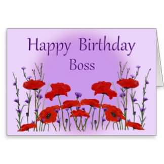 Superb E-Card Birthday Wishes For Boss